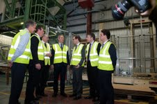 Owen Paterson (centre) at Doff