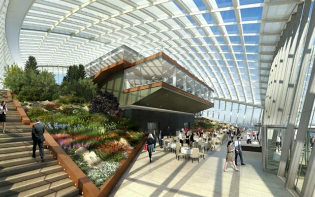 Roof Garden Opens At Londons Walkie Talkie Building