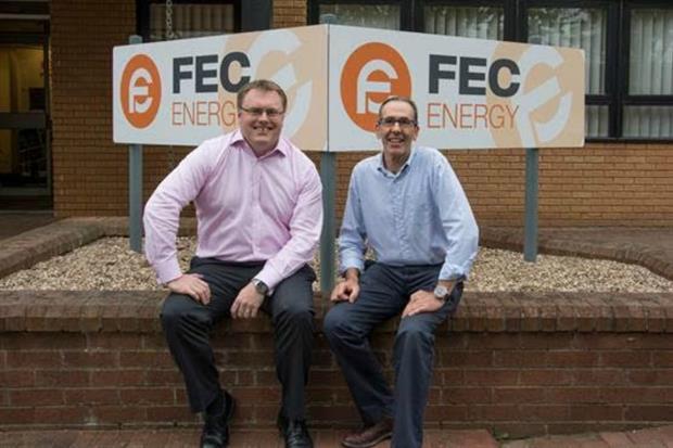Terry Jones, NFU Director General, and Chris Plackett, FEC Energy MD.