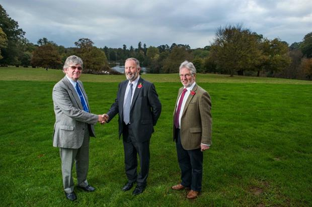 Philip Rees, Jeremy Yabsley and NFU Devon chairman David Verney