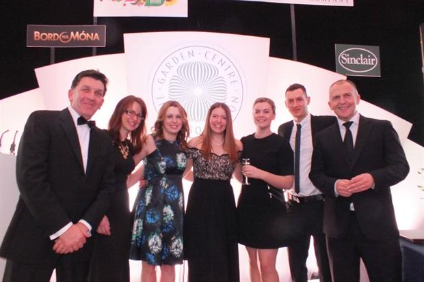 , photograph shows (from l-r): Edward Conroy (Managing Director of Westland Horticulture), Lisa Waim (Rising Star finalist, Haskins Snowhill), Cerys Williams (Rising Star finalist, Perrywood) Kirsty Clark (Rising Star winner, Perrywood), Hannah Mason