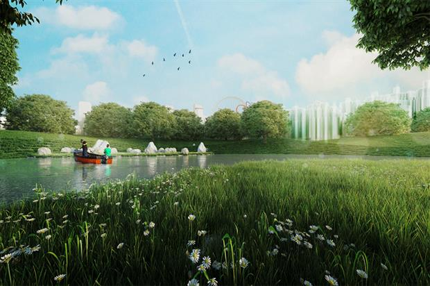 Vision for part of Liverpool's proposed Festival Park - image: Liverpool City Council
