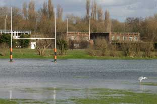 Flooded pitches are losing clubs revenue - photo: Dave Morris