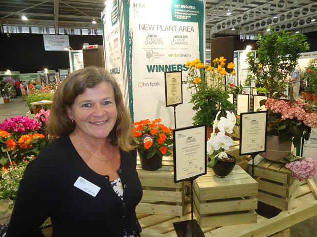 Lesley Whayman at the National Plant Show
