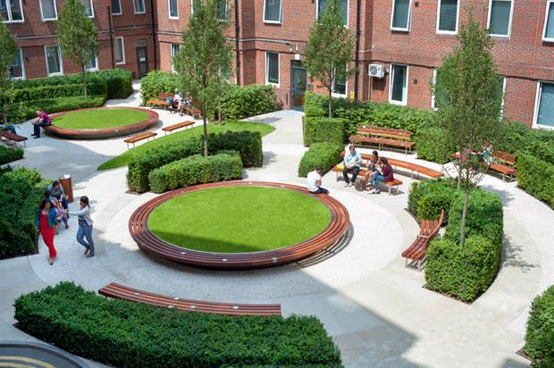 Hard Landscaping Construction (non-domestic): cost under £300K - The Outdoor Room Guy's & St Thomas' Charity, Orchard Lisle Courtyard, London