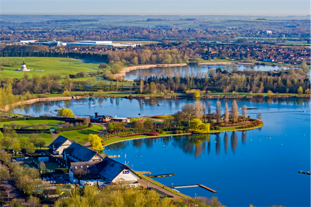 Willen Lake. Image: The Parks Trust, Milton Keynes