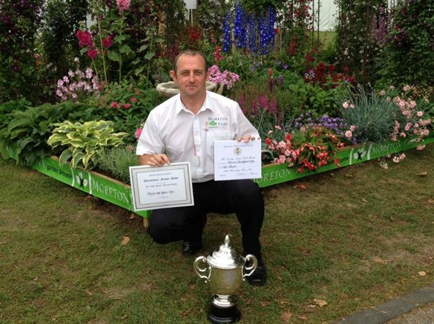 Paul Farry with Shrewsbury awards