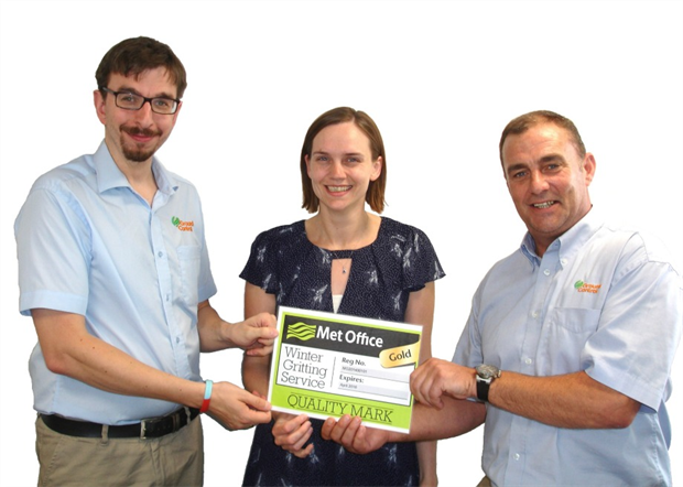 Peter Brown, Senior Winter Maintenance Co-ordinator, Lizzie Bucknell, Operations Systems Manager, and Andy Simpson, Winter Maintenance Operations Manager.
