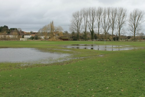 South Newton and Wishford FC was flooded this winter