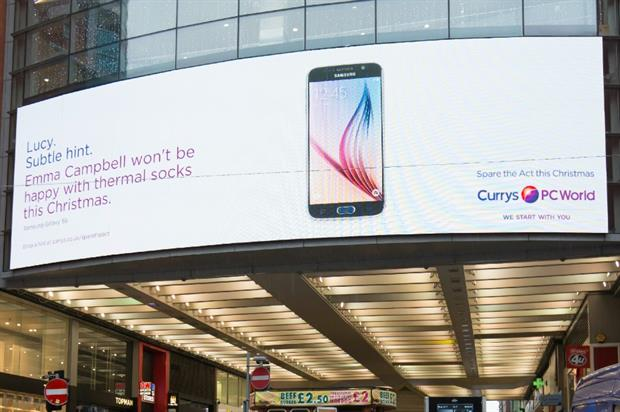 The personalised hints will be displayed across more than 500 locations
