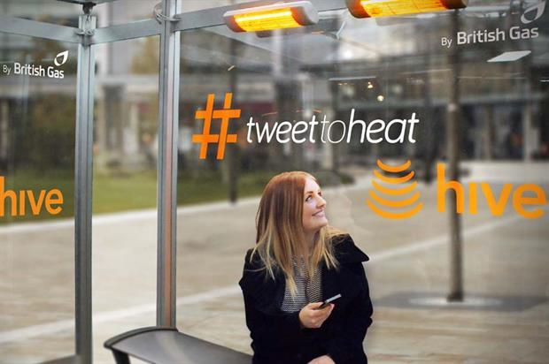 The Hive #TweettoHeat shelter uses Accurate Instant Response to heat up