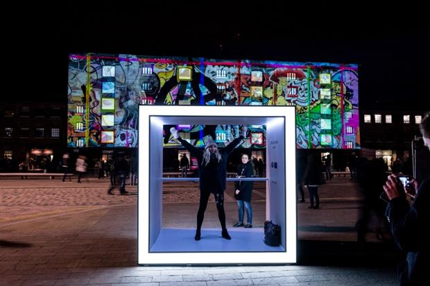 The installations allowed visitors to take the perfect Instagram snap