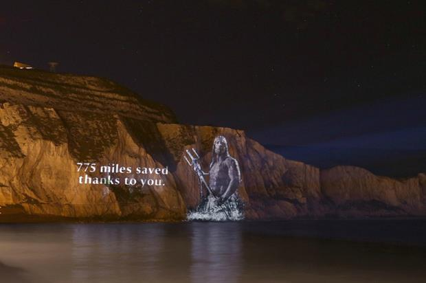 Neptune appeared to rise on the White Cliffs of Dover