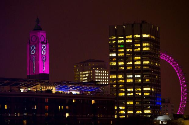 The OXO tower was transformed through projection mapping