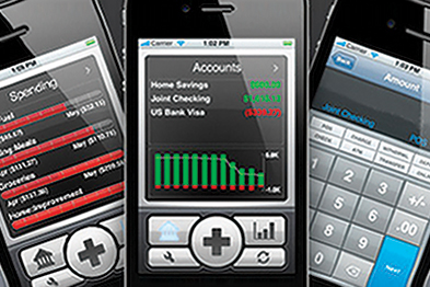 Enter transactions on iPhone, then synchronise to the iMac at home (Image: iggsoftware.com)