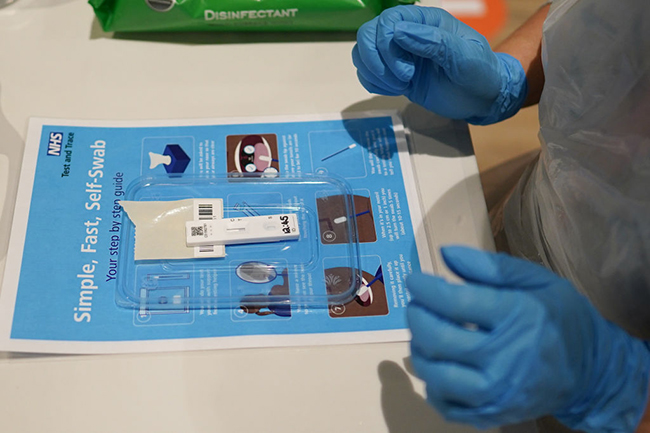Lateral flow tests used during a community testing pilot (Photo: Ian Forsyth/Getty Images)