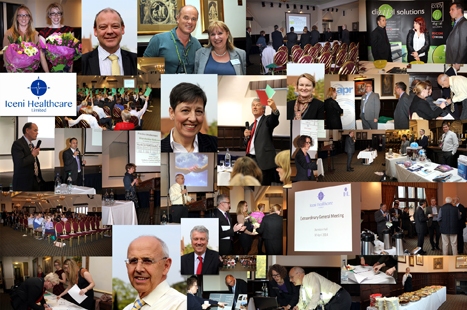 A montage of images from Iceni Healthcare's 'Extra-Ordinary General Meeting' (image: Iceni Healthcare Ltd)
