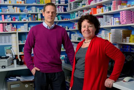 Practice pharmacist Mark Stone with GP Dr Helen Williams (image: UNP)