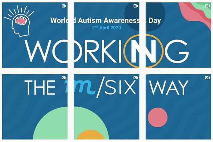 M/SIX flies flag for supporting people with autism in adland