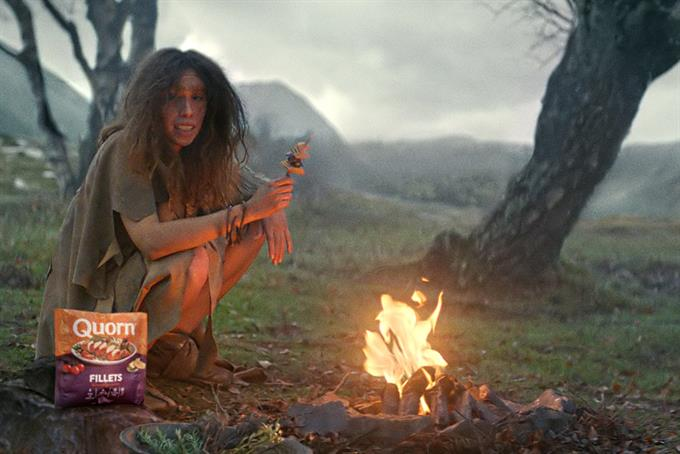 A cavewoman swears off meat in Adam & Eve/DDB's first ad for Quorn