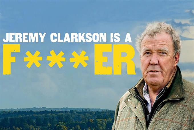 Jeremy Clarkson delighted to be called a 'f***er' in new Amazon Prime Video campaign