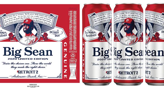 Rapper Big Sean gets a spot on the Budweiser label