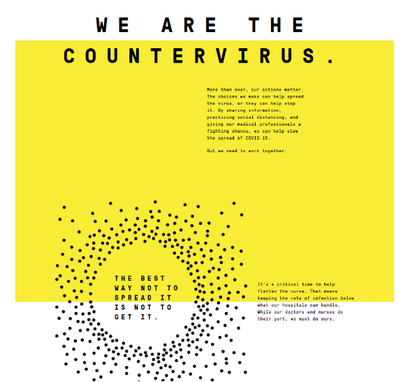 How a 'countervirus' effort is reaching people going out during COVID-19 crisis