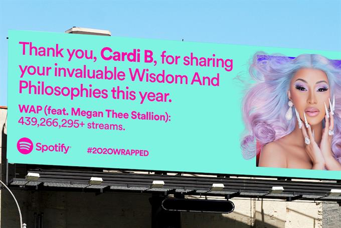Spotify's 2020 wrapped campaign is all about gratitude