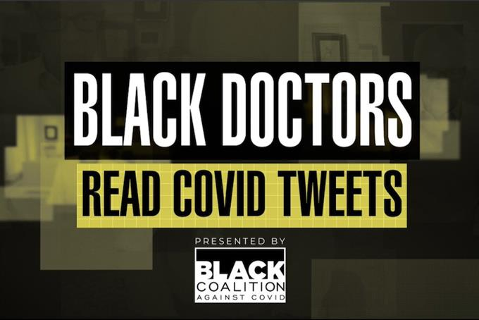 Black doctors read Tweets to encourage young people of color to get vaccinated