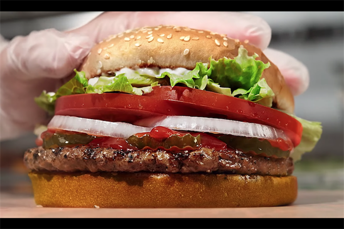 Burger King lists ingredients on Whopper wrappers to highlight natural flavors