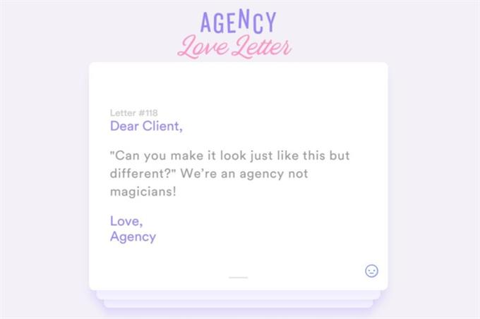 Glow launches site for anonymous client-agency letters