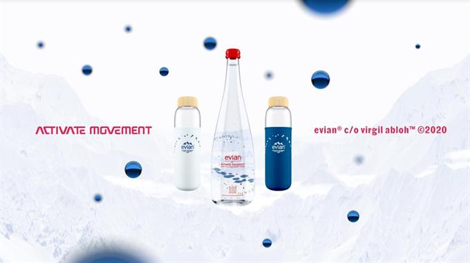 Off-White creator Virgil Abloh and AKQA evian work officially makes H2O cool
