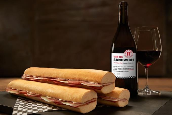 You know what your Jimmy John's sandwich needs? Wine
