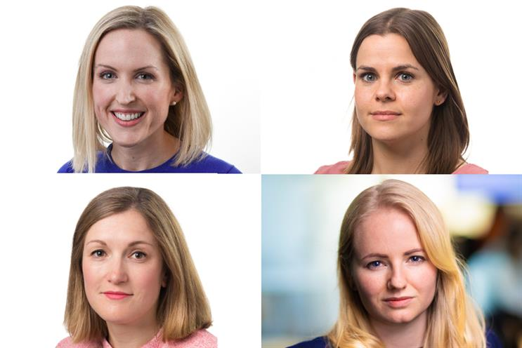 Clockwise, from top left: Carolyn Irwin, Lara Cornwall, Beth Laffin and Kate Rippon