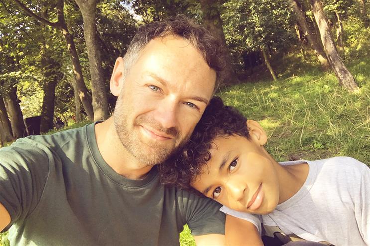 Ben Books-Dutton and son Jackson