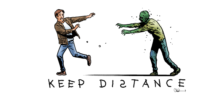 Another of the new illustrations by Walking Dead comic book artist Charlie Adlard