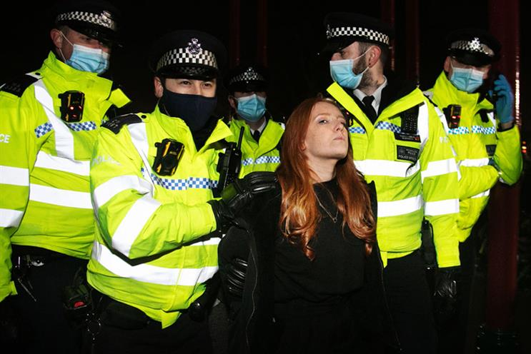Patsy Stevenson was arrested at the vigil (pic credit: Getty)