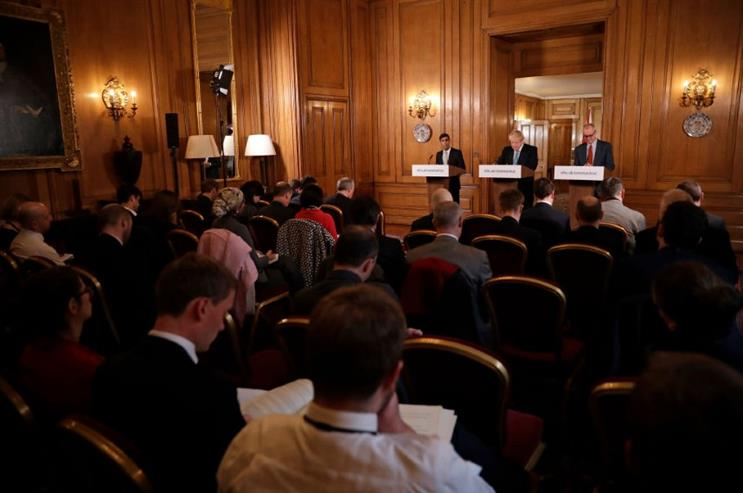 Sunak and Johnson take questions from journalists (Getty Images)
