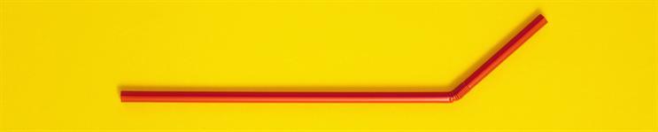 red plastic straw