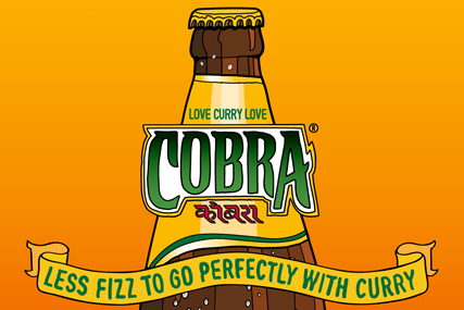 Cobra: promotes the lager's link with curry