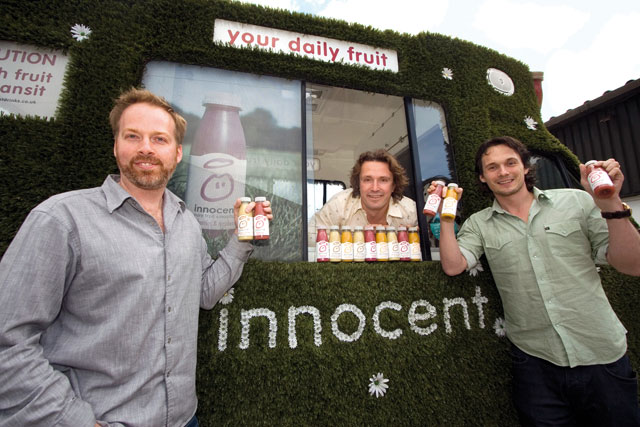 Innocent: founders Richard Reed, Adam Balon and Jon Wright