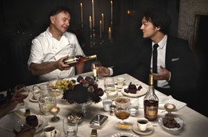 Jamie Cullum and Raymond Blanc