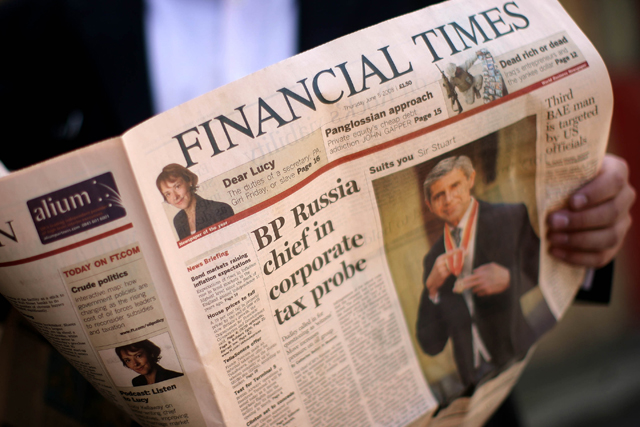 The Financial Times: most widely read by European elites