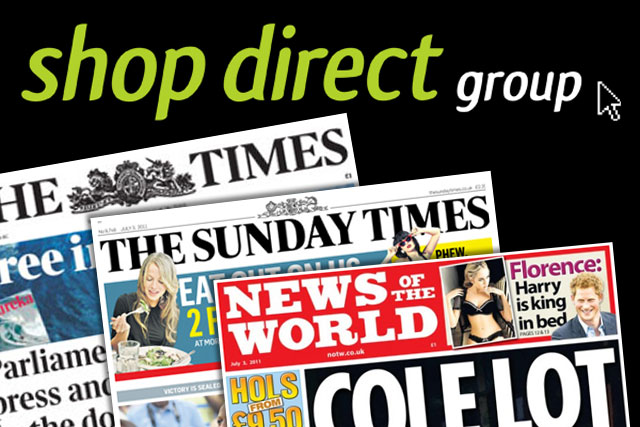 Shop Direct: suspends advertising in all News Int titles