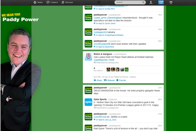 Paddy Power: claimed heart attack retweet was human error