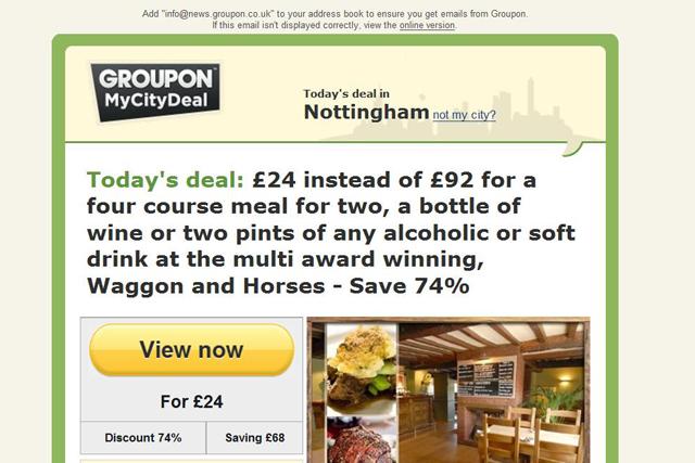 Groupon: ASA bans restaurant ad