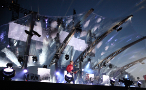 Muse takes the stage at London's Horseguard Parade