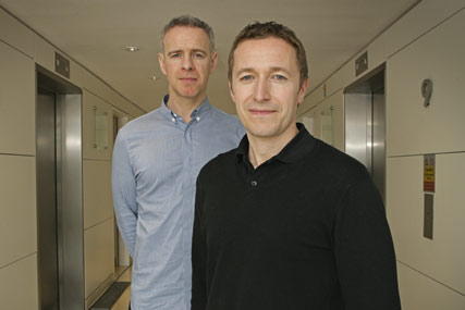 Laurence Quinn (l) and Mark Norcutt