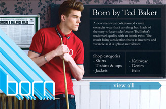 Ted Baker benefits from Born range and new stores
