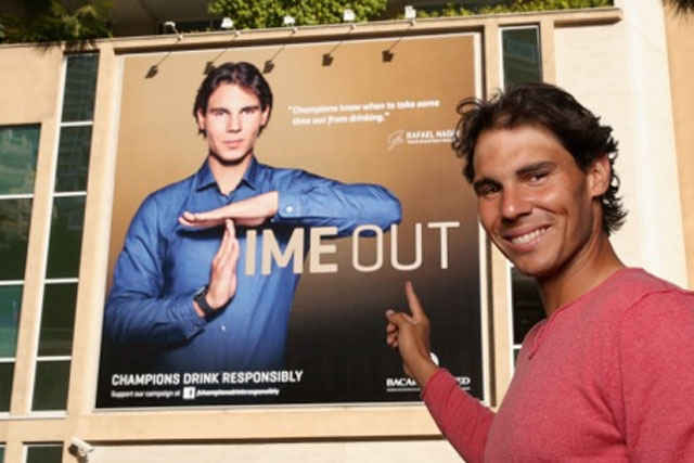 Rafael Nadal: hosts Bacard competition running on Facebook